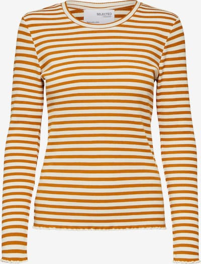 SELECTED FEMME Shirt 'Anna' in dunkelorange / weiß, Produktansicht