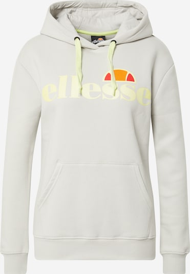 ELLESSE Sweat de sport 'Elce' en jaune clair / gris clair / orange / rouge, Vue avec produit