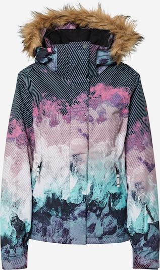 ROXY Outdoorjas in de kleur Beige / Turquoise / Pink / Zwart, Productweergave