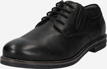 Scarpa stringata 'Ventur' di bugatti in nero