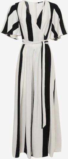Madam-T Jumpsuit 'EMILI' in de kleur Zwart / Wit, Productweergave