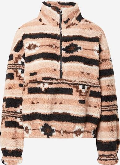 ONLY Sweatshirt 'NANINA' in braun / rosa / altrosa / schwarz / weiß, Produktansicht