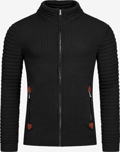 Redbridge Strickjacke Tampa mit Stehkragen in schwarz, Produktansicht