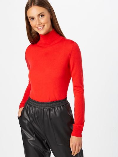 HUGO Jersey 'Sedell' en rojo anaranjado, Vista del modelo