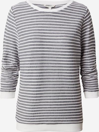 TOM TAILOR DENIM Sweatshirt in de kleur Grijs / Wit, Productweergave