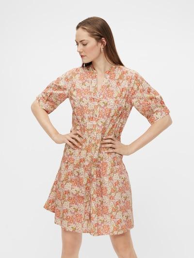 Y.A.S Kleid 'Dowa' in hellgrün / orange / rosa / altrosa / weiß, Modelansicht