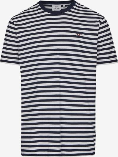 Cleptomanicx T-Shirt 'Stripe' in navy / weiß, Produktansicht