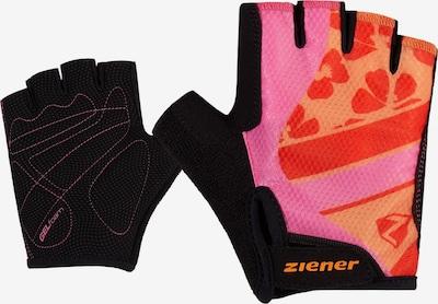 ZIENER Sporthandschuhe 'CIELLE' in gelb / pink / rot / schwarz, Produktansicht