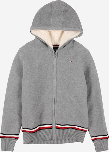TOMMY HILFIGER Knit cardigan in navy / grey / red / white, Item view