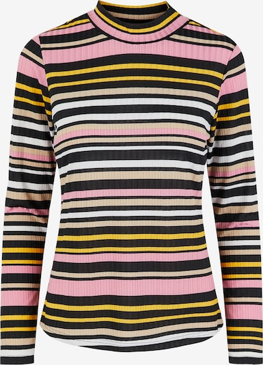 Pieces Petite Shirt 'Sitta' in Navy / Yellow / Pink / White, Item view