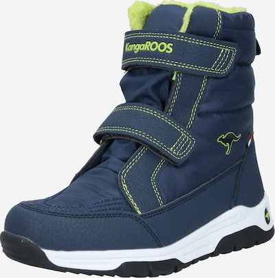 KangaROOS Snowboots 'Major' in de kleur Navy / Limoen, Productweergave