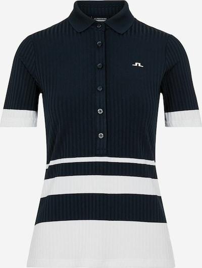 J.Lindeberg Shirt 'June' in de kleur Donkerblauw / Wit, Productweergave