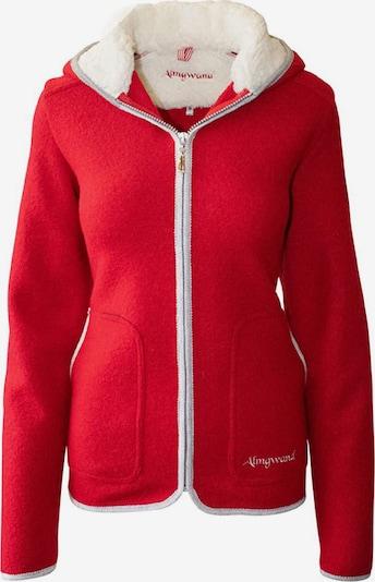 Almgwand Sweatjacke ' Vennspitze ' in rot / weiß, Produktansicht