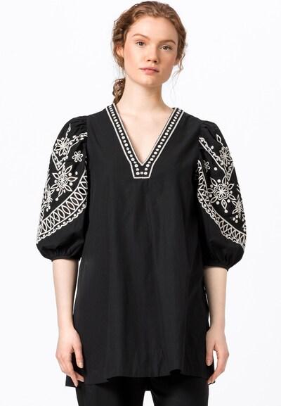 HALLHUBER Tunika in schwarz / weiß, Modelansicht