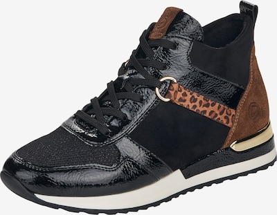 REMONTE High-Top Sneakers in Brown / Caramel / Black, Item view