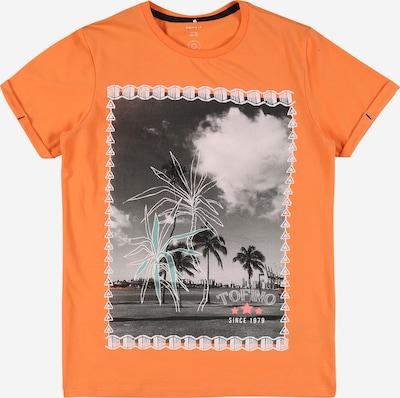 NAME IT Koszulka 'ZOCCANDO' w kolorze turkusowy / jasnoszary / ciemnoszary / pomarańczowym, Podgląd produktu