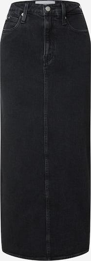 Fustă Calvin Klein Jeans pe negru denim, Vizualizare produs