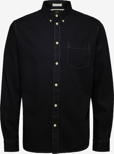 SELECTED HOMME Jeanshemd in schwarz: Frontalansicht
