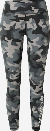 COLUMBIA Leggings en gris / gris clair / noir, Vue avec produit