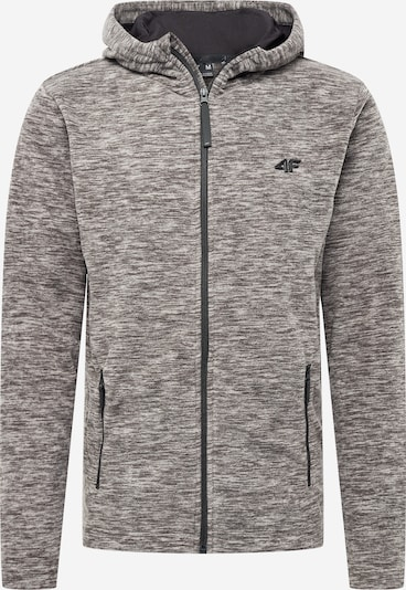 Funkcinis flisinis džemperis iš 4F , spalva - marga smėlio spalva / margai pilka, Prekių apžvalga