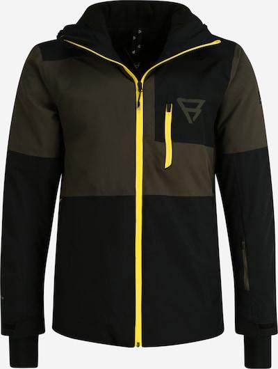 BRUNOTTI Zunanja jakna 'Strokers' | rumena / oliva / črna barva, Prikaz izdelka
