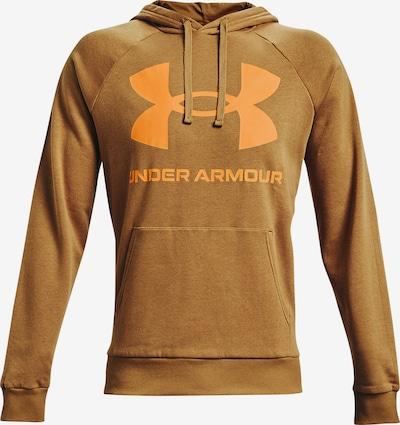 UNDER ARMOUR Athletic Sweatshirt 'Rival' in Caramel / Orange, Item view