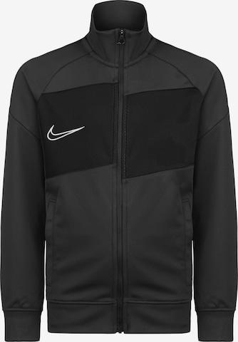 NIKE Athletic Zip-Up Hoodie 'Academy' in Black