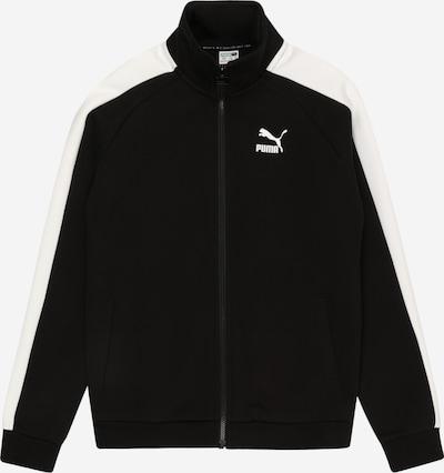 PUMA Trainingsjacke 'Iconic T7' in schwarz / weiß, Produktansicht