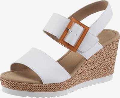 GABOR Sandalette in karamell / weiß, Produktansicht