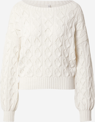 ONLY Trui 'Brynn' in de kleur Wit, Productweergave