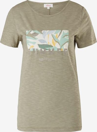 s.Oliver T-Shirt in hellblau / gelb / khaki / mint / weiß, Produktansicht