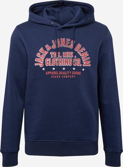 JACK & JONES Sweatshirt 'BOOSTER' in de kleur Navy / Rood / Wit, Productweergave