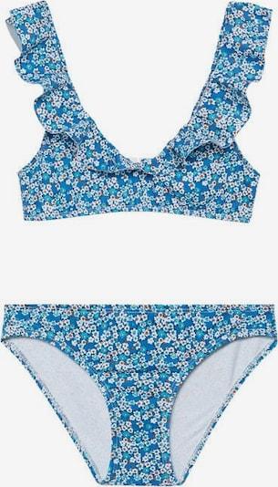 MANGO KIDS Bikini 'Marina' in blau / hellblau / weiß, Produktansicht