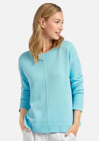 Peter Hahn Pullover aus 100% Baumwolle Pima Cotton in blau, Modelansicht