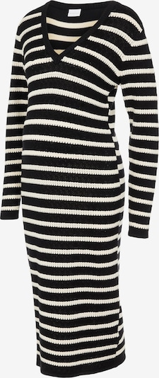 MAMALICIOUS Knitted dress 'Tiggy' in Black / White, Item view