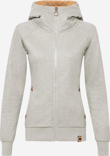Fli Papigu Zip-Up Hoodie 'The baddest Thing' in mottled grey, Item view