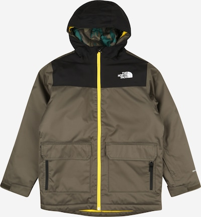 THE NORTH FACE Sport-Jacke 'FREEDOM' in gelb / khaki / schwarz / weiß, Produktansicht