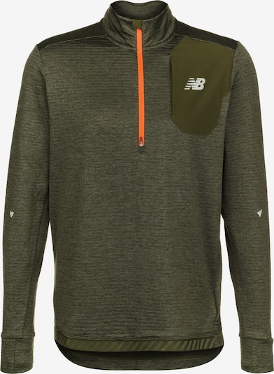 new balance Shirt ' Impact Run ' in khaki / neonorange, Produktansicht