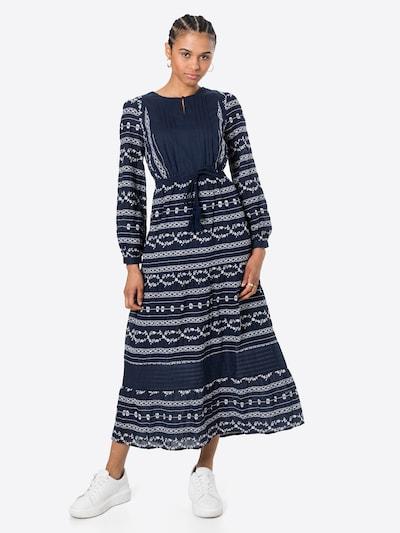 Thought Košulja haljina 'VALENTINA' u mornarsko plava / bijela, Prikaz modela