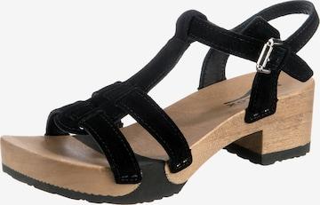 SOFTCLOX Sandale in Schwarz