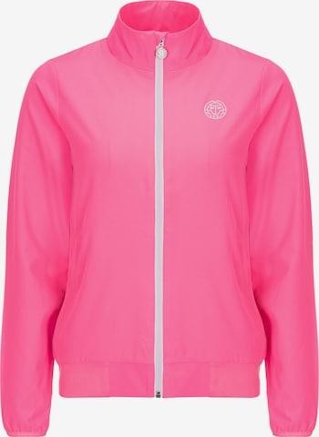 BIDI BADU Trainingsjacke Piper mit Markenlogo in Pink