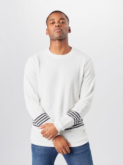 bleed clothing Pullover 'Wavestripe' in schwarz / weiß, Modelansicht