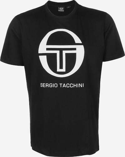 Sergio Tacchini T-Shirt 'Iberis' in schwarz / weiß, Produktansicht