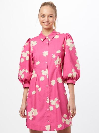 modström Košilové šaty 'Milan' - pink / bílá, Model/ka