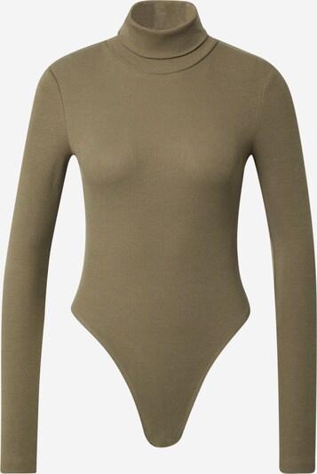 WEEKDAY Shirt body 'Verena' in de kleur Kaki, Productweergave