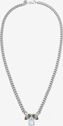 ELLI PREMIUM Halskette Tropfen in grau / silber, Produktansicht