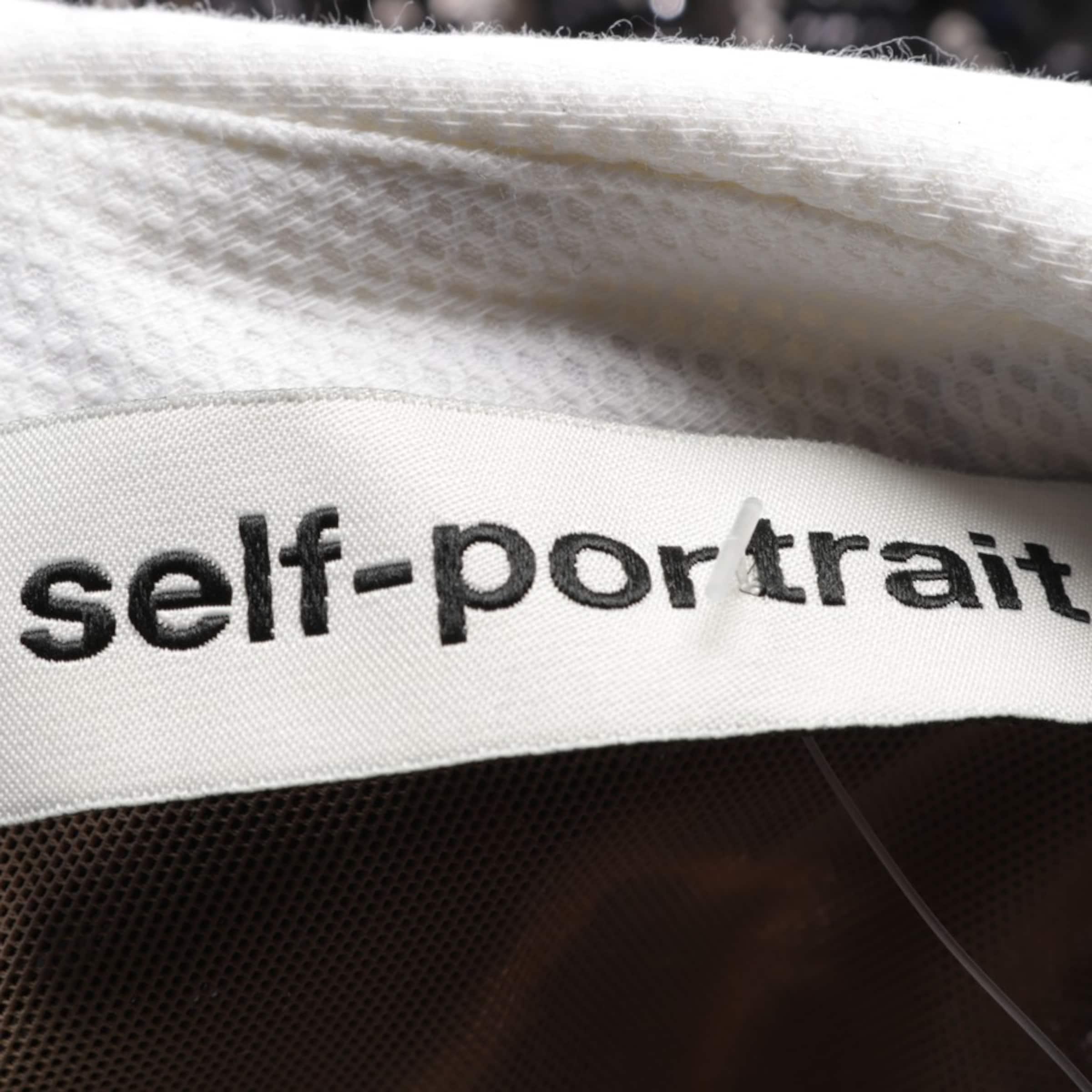 self-portrait Kleid in 38 in schwarz / weiß