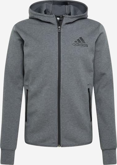 ADIDAS PERFORMANCE Sportsweatjacke in graumeliert / schwarz, Produktansicht