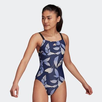 ADIDAS PERFORMANCE Sportbadpak in de kleur Navy / Smoky blue / Geel, Modelweergave