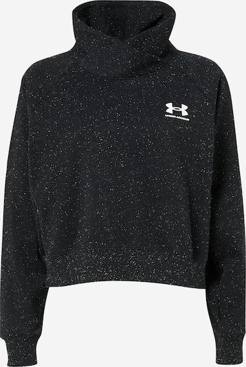 UNDER ARMOUR Sport sweatshirt i svart / vit, Produktvy